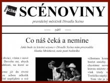 Měsíčník Divadla Scéna